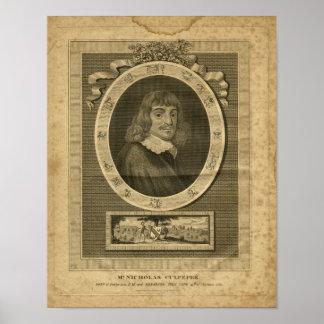 Impresión herbaria 1817 de Nicholas Culpeper Póster