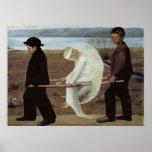 Impresión herida arte clásico del poster del ángel