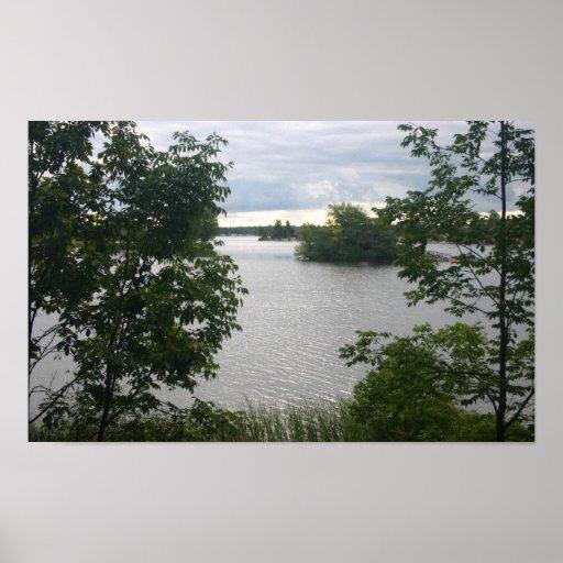 Impresión hermosa de la foto del lago impresiones