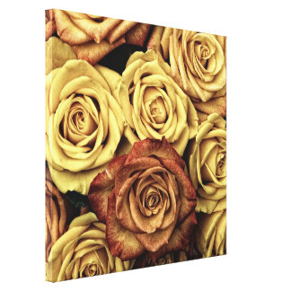Impresión hermosa de la lona de los rosas impresiones en lona