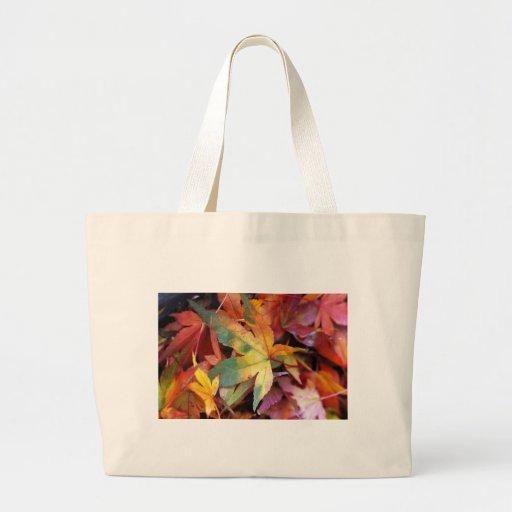 Impresión hermosa de las hojas de otoño bolsas de mano