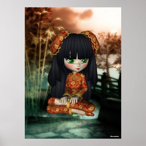 Impresión hermosa de Oriente del chica de China Impresiones