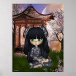 Impresión hermosa de Oriente del chica de China Posters