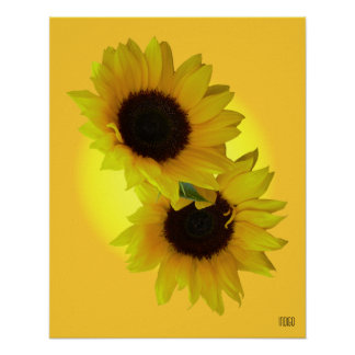 Impresión hermosa del arte de la flor de la impres póster