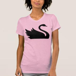 Impresión hermosa del pájaro del cisne negro camisetas