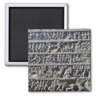 Impresión hindú de la foto de la escultura de las imán cuadrado