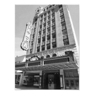 Impresión histórica 1 B&W de la foto del teatro de Fotografía