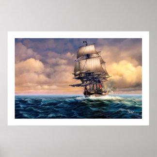 Impresión histórica del arte de la pintura de la póster