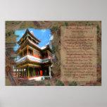 Impresión histórica del palacio de verano poster