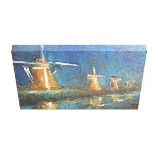 Impresión holandesa de la lona de pintura del arte lona envuelta para galerías