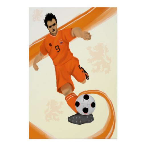 Impresión holandesa del poster del fútbol total de