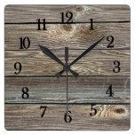 Impresión horizontal de madera de mirada auténtica reloj de pared