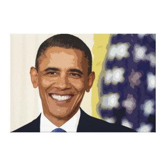 Impresión icónica de la lona del retrato de Obama Lona Estirada Galerías