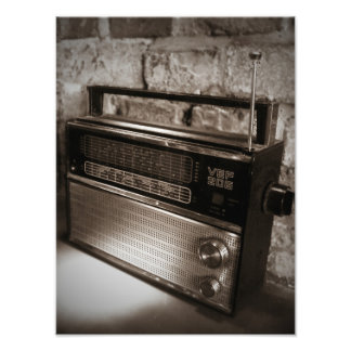Impresión impresionante de la radio del vintage