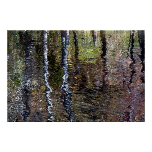 Impresión impresionista de la reflexión póster