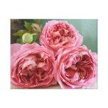 Impresión inglesa de los rosas de la herencia de D Impresiones En Lona Estiradas