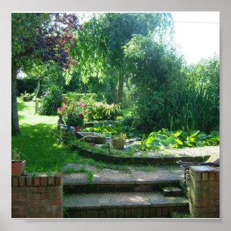 Impresión inglesa del jardín del verano poster