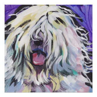 Impresión inglesa vieja del arte pop del perro pas poster
