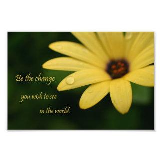 Impresión inspirada de la fotografía de la flor de fotografía