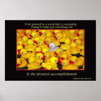 Impresión inspirada de los duckies de goma póster