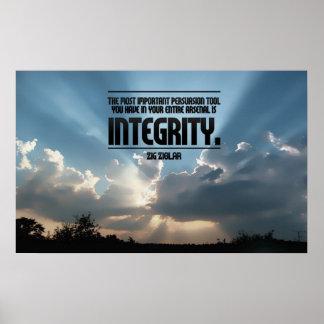 Impresión inspirada del poster de la integridad