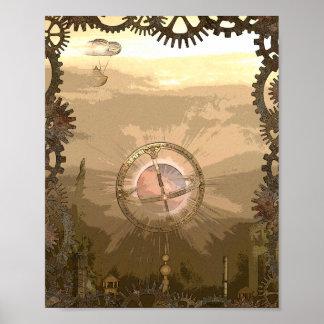 Impresión inspirada Steampunk del poster de la