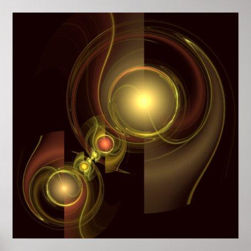 Impresión íntima del arte abstracto de la conexión posters