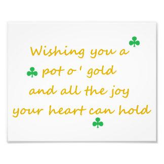 Impresión irlandesa 8x10 del día de St Patrick Fotografías
