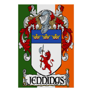 Impresión irlandesa de la bandera del escudo de ar impresiones