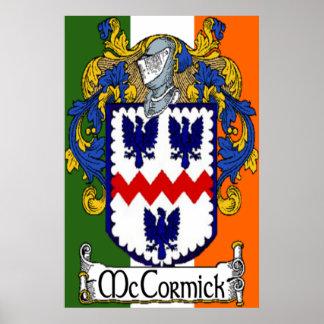 Impresión irlandesa de la bandera del escudo de ar poster