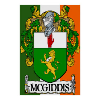 Impresión irlandesa de la bandera del escudo de ar posters