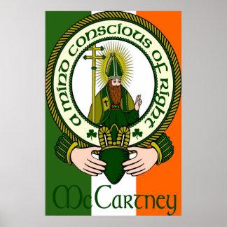 Impresión irlandesa de la bandera del lema del cla póster
