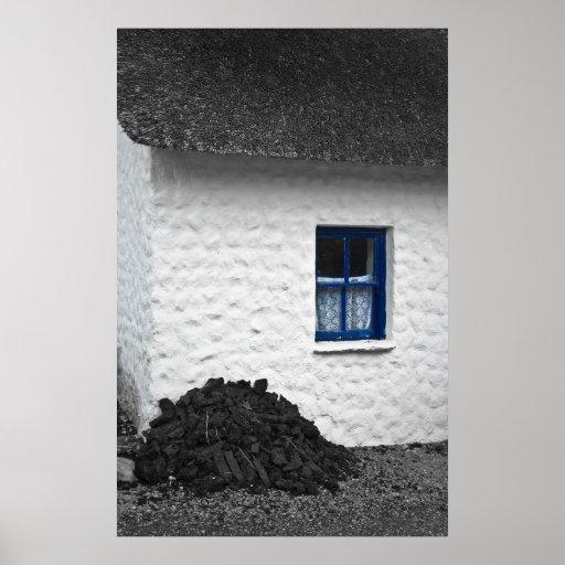 Impresión irlandesa de la cabaña posters
