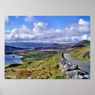 Impresión irlandesa del camino de la montaña impresiones