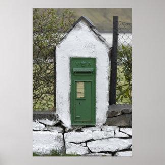 Impresión irlandesa del correo poster