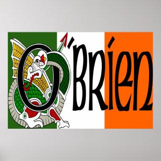 Impresión irlandesa del poster de la bandera del d