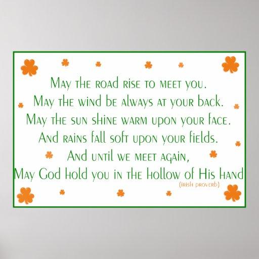 Impresión irlandesa del proverbio 2 póster