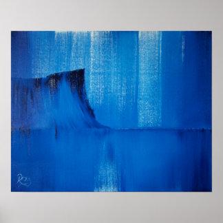 Impresión irlandesa principal justa azul abstracta posters