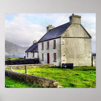 Impresión irlandesa vieja del cortijo posters