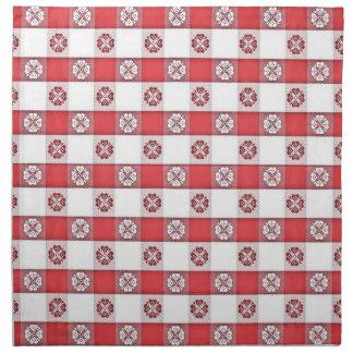 Impresión italiana blanca roja del mantel servilletas de papel
