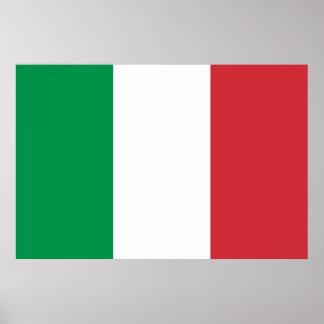 Impresión italiana de la bandera póster