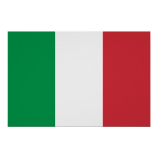 Impresión italiana de la bandera posters