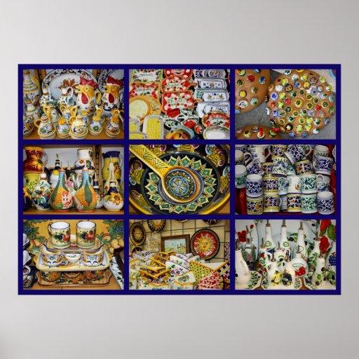 Impresión italiana de la cerámica impresiones
