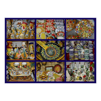 Impresión italiana de la cerámica póster