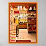 Impresión italiana del poster de la tienda de deli