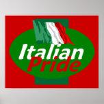 Impresión italiana del POSTER del orgullo