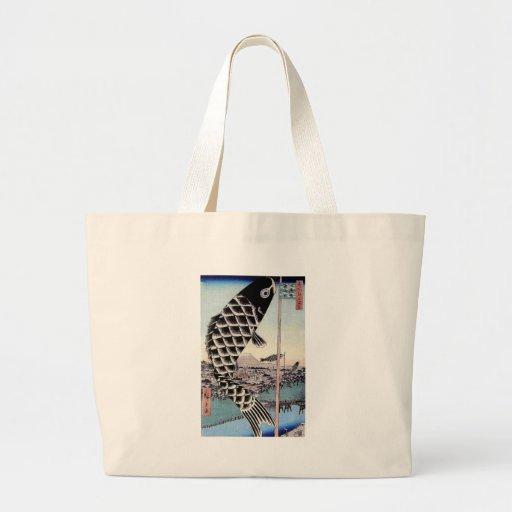 Impresión japonesa de la carpa de la cometa de los bolsas
