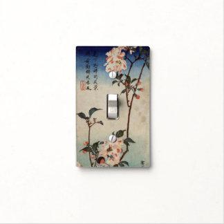 impresión japonesa de la flor de cerezo placa para interruptor