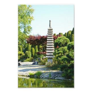 Impresión japonesa de la foto del jardín