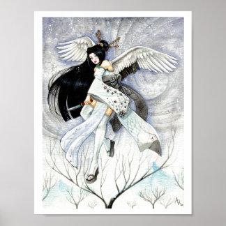 Impresión japonesa del arte del geisha grande de l posters